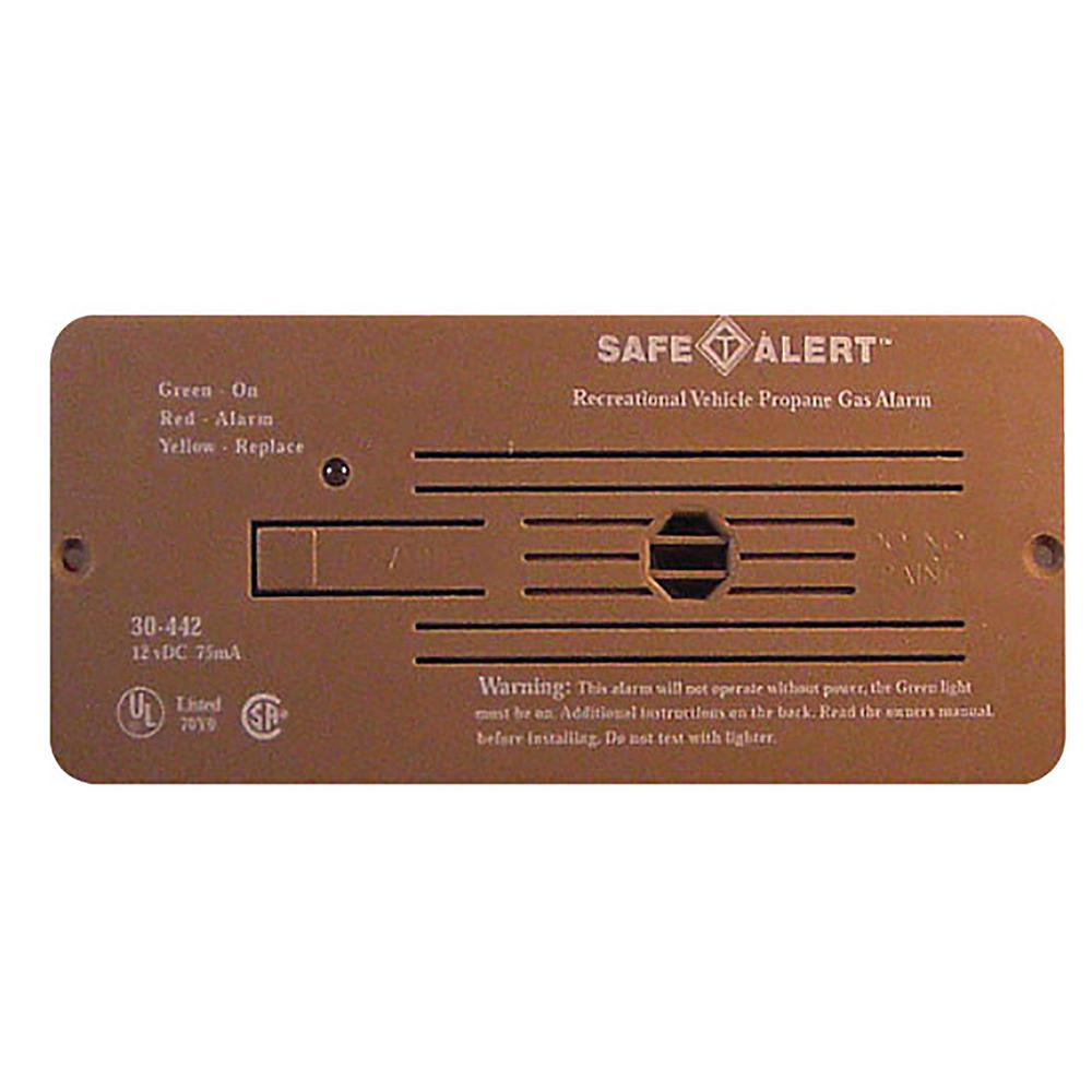 Safe T Alert 30 Series Propane/LP Gas Alarm Flush Mount in Brown