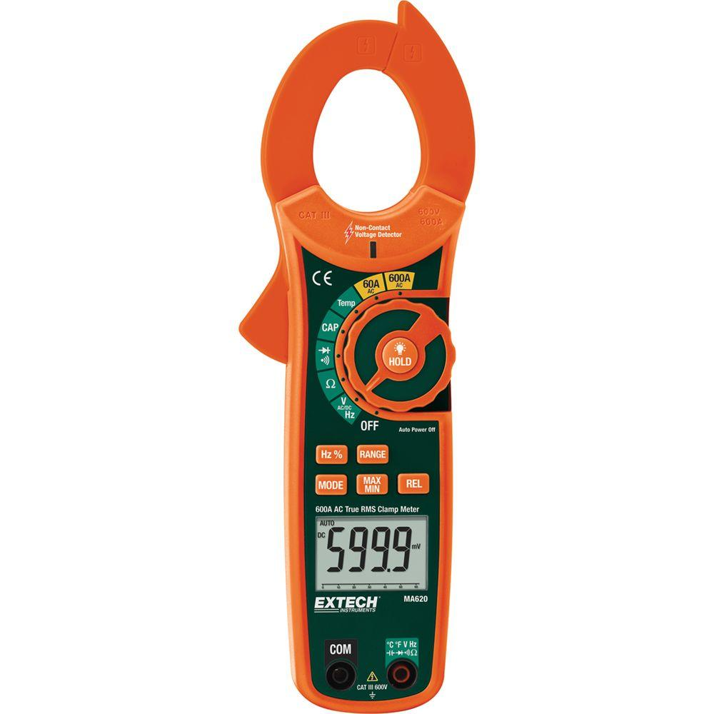 600 Amp True RMS AC Clamp Meter with NCV